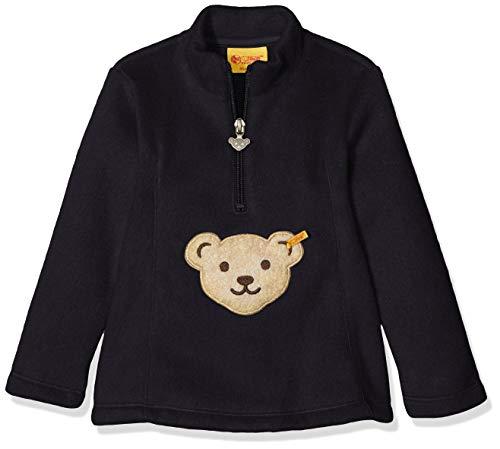 Steiff Mädchen Fleece Sweatshirt, Rosa (Black Iris 3032), 80 (Herstellergröße: 080)
