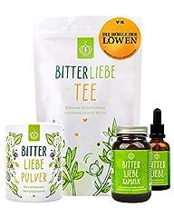 BitterLove® Premium Pakket met BitterLove Drops (50ml) Capsules (90pcs) Poeder (100g) en Kruidenthee (100g) Ik bittere stoffen uit de grot van leeuwen *