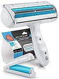 Bluepet® RolloTollo 2.0 - Rodillo quitapelusas autolimpiante para mascotas, elimina el pelo de mascotas en sofás, camas y muebles