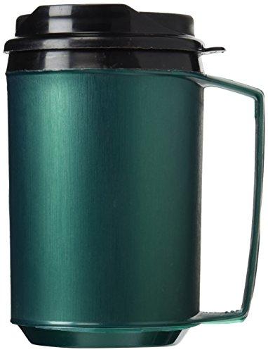 12 oz Foam Insulated Green ThermoServ Travel Coffee Mug