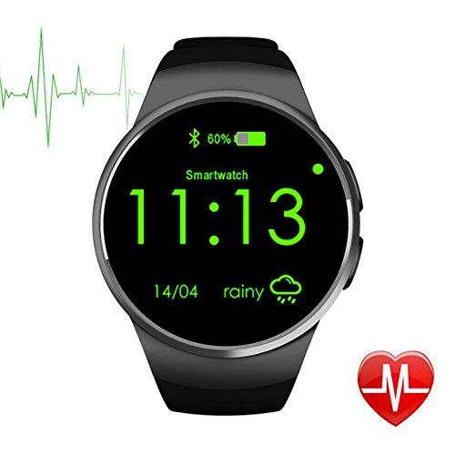DongAshley Orologio Intelligente Bluetooth & Telecamera Remota Orologio Intelligente Pedometro,Spinta Bluetooth,Monitoraggio Del Sonno Nero