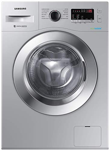 Samsung 6.0 Kg Inverter 5 star Fully-Automatic Front Loading Washing Machine (WW61R20EK0S/TL, Silver, Hygiene steam)