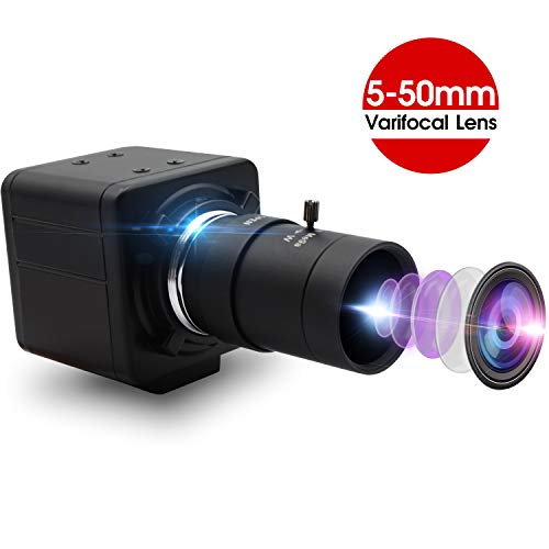 8MP Webcam 5-50 mm Varioobjektiv USB-Kamera für den Außenbereich Super HD 3264X2448 Eingebettete Kamera für Industrie, USB mit Kamera für Linux Windows Android Mini Webcam Plug & Play OTG Webkamera