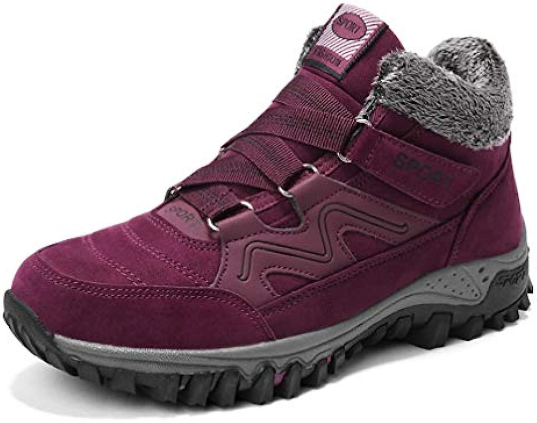 T-JULY Women Winter Warm Plush Inside Platform Rubber Sole Ankle Boots Female Non-Slip Warm Boots