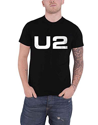 U2 T Shirt Classic Band Logo Weiß Organic Nue offiziell Herren