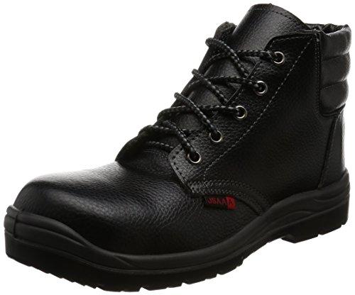 [AITOZ]アイトス 59813_010 25.5cm セーフティーシューズ 作業靴 ミドルカット 樹脂先芯 JSAA A種 ウレタン底 耐油 耐滑 静電 3E ブラック