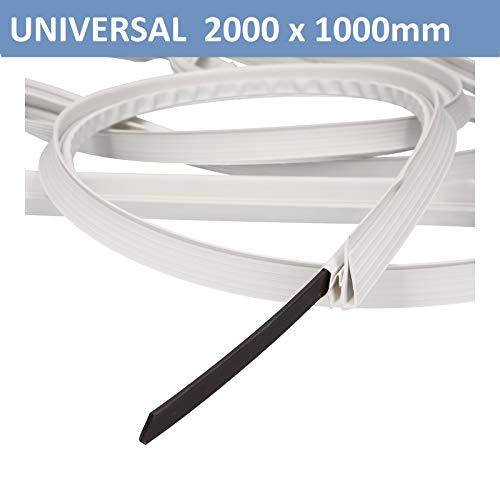 Universal Türdichtung Türdichtungsset Magnetdichtung 2000x1000 mm Kühlschrank