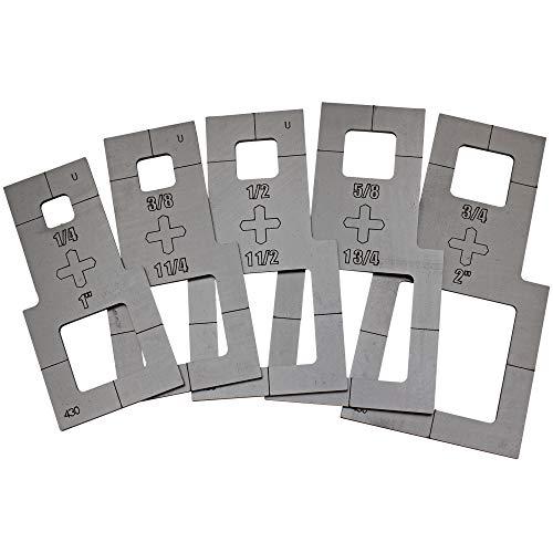 "Plasma Stencil - Square Cutter Guide - 5 pc. Kit - .380"""