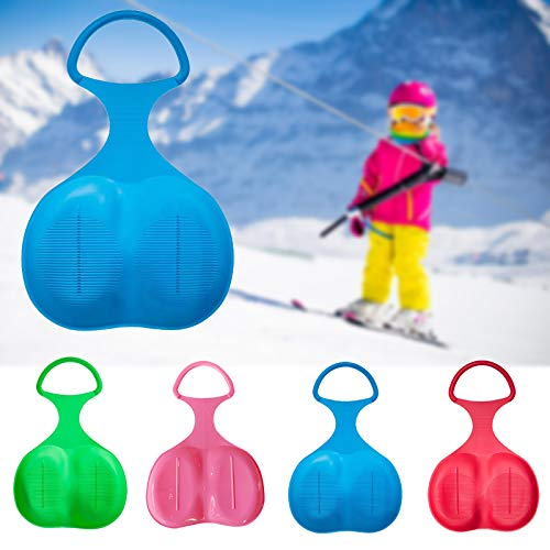 Bumplebee Poporutscher Kinder Flexibel Schnee Schneerutscher Schlitten Schneeflitzer Rodelteller Kunststoff Popo-Rutscher für Gras Sand (Pink)