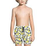 XULANG Unisex Boys Girls Lemon Pictures White Board Shorts Running Summer Casual Boardshorts