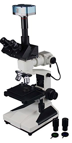 Radical 1500x Metallurgical Inspection Microscope w 3.5Mp USB Camera & Reflected Incident LED Light