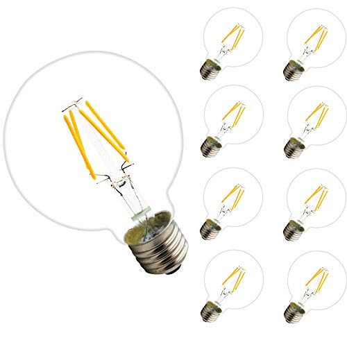 E27 4W Bombilla Filamento LED, G80 400 Lumen, Equivalente 40W, Blanco Cálido...