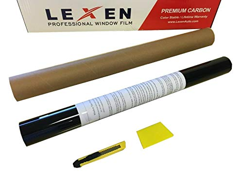 LEXEN 2Ply Premium Carbon 20' X20' Roll Window Tint Film 20' x20' Limo Shade 5%