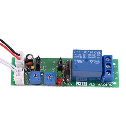 YINCHIE Mukuai54 Relé de Temporizador DC 5V 12V 24V, módulo de Interruptor de Encendido/Apagado con Temporizador de Ciclo Ajustable con 2 Modos, 70 × 20 × 18 mm (DC5V, 0-24 Horas) Bricolaje