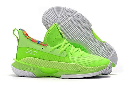 Bazi Sport Men's UA Curry 7 Lightweight Basketball Sports Shoes 8.5 M US Green