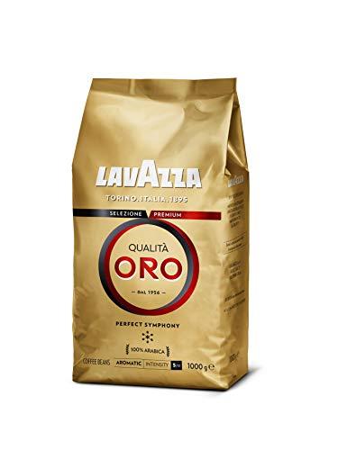 Lavazza Café en Grano Espresso Qualità Oro, 100% Arábica, Paquete de 1 Kg