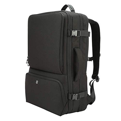 Outdoor Product/Fashion tas JYT 3 in1 Travel laptop rugzak 17 inch voor mannen handtas wandelen rugzak grote capaciteit bagageruimte, kan uitbreiden 38% capaciteit, zwart Zwart