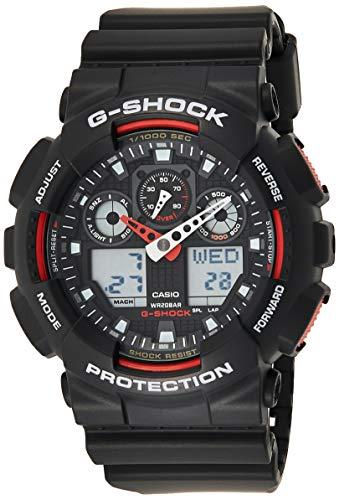 Casio Men's G-Shock GA100-1A4 Digital Resin Quartz Sport Watch