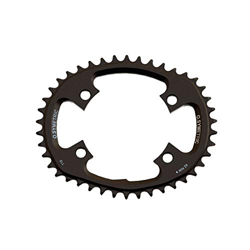Stronglight Unisex - Adult Osymetric Gravel Chainring, Black, One Size