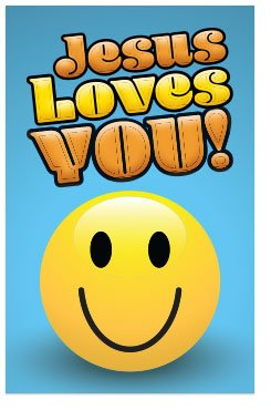 Jesus Loves You! (Mini Gospel Tract Card, Packet of 100, KJV)