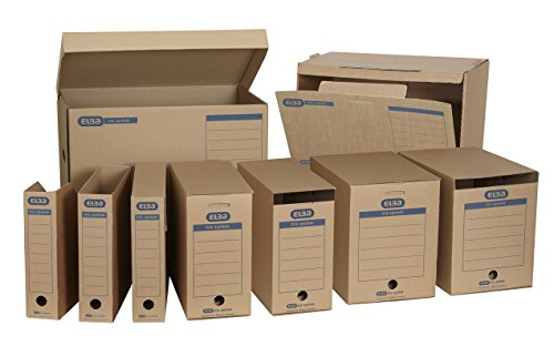 "Elba 100421143 Systemcontainer ""tric system"" mit Klappdeckel, 10 Stück, naturbraun - 5"