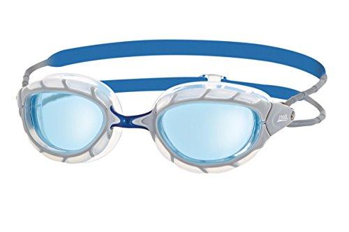 Zoggs Predator Swimming Goggles, Genderless, Gray (White / Blue / Tint), One Size