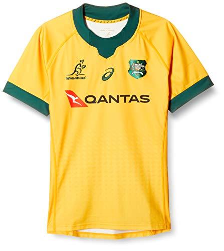 ASICS Herren Australien Heim Trikot Home Shirt Kurzarm Gold L