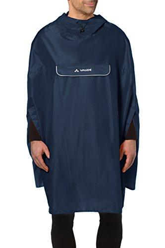 VAUDE Unisex Valdipino Poncho Regenmantel, Marine, L, 02285