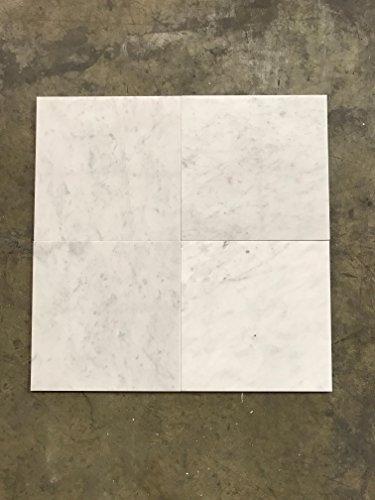 Honed White Carrara Marble 12x12