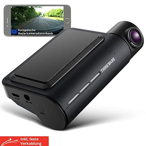 Thinkware Q800 Pro Dash Cam 2K 1440P Qhd Cámara delantera para coche 1080P Full HD Cámara trasera para salpicadero - MODELO UE, Super visión nocturna, Tarjeta SD de 32 GB, Cable cableado para instalac