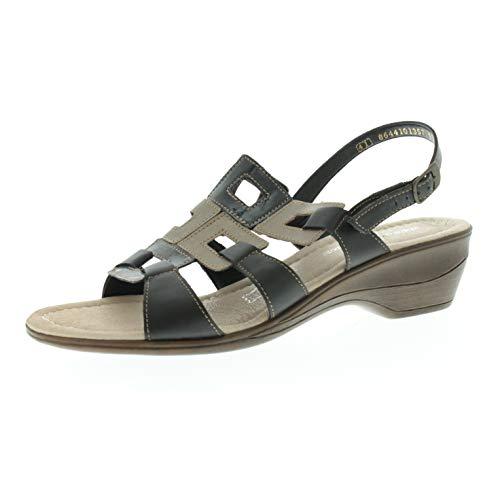 Remonte damesschoenen sandalen met hak Adele zwart combi R385221