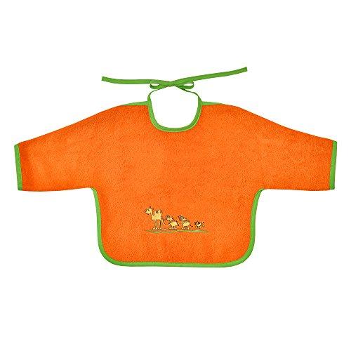 Mauz by wörner bébé de sable et caravane dans le désert orange bavoirs, serviettes de bain et gant de bain poncho, orange, Ärmellätzchen 68x34 cm