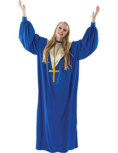 ORION COSTUMES Costume de déguisement avec robe bleue de chanteuse de gospel pour femmes