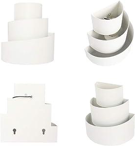 SISVIV Applique Murale Intérieur LED Effet Moderne Lampe Moderne en Aluminium Eclairage Décoratif Lumiere Interieur pour Chambre Maison Couloir Salon Ampoule E27 Inclus Blanc Chaud