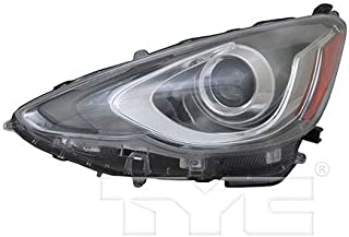 CarLights360: Fits 2015 2016 2017 Toyota Prius C Headlight Assembly Driver Side (Left) DOT Certified w/Bulbs - Replacement for TO2502236
