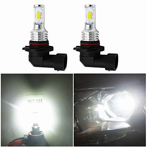 WLJH Lot de 2 ampoules LED 9005 HB3 pour feux de brouillard haute puissance - Puce CSP 3570 pour voiture, camion, DRL - Blanc 6000 K