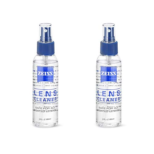 Set of 2 Carl Zeiss Lens Cleaning Spray 2oz - 60ml Travel Pack