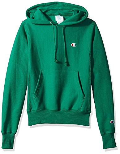 Champion LIFE Men's Reverse Weave Pullover Hoodie, Kelly Green/Left Chest C Logo, Medium