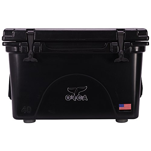 ORCA 40 Cooler with Roto-molded Construction in Black