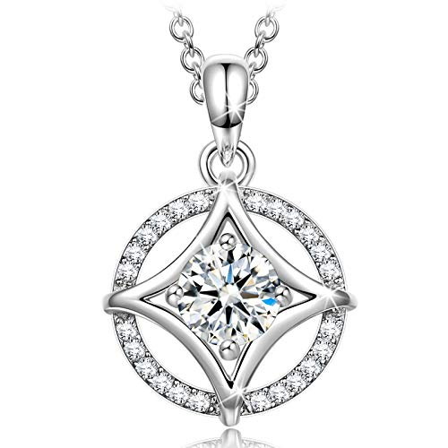 Alex Perry Gifts for Her Gifts for Women 925 Sterling Silver Women Necklace Gifts Pendent Pendant Necklace Cubic Zirconia Crystal Fine Jewellery