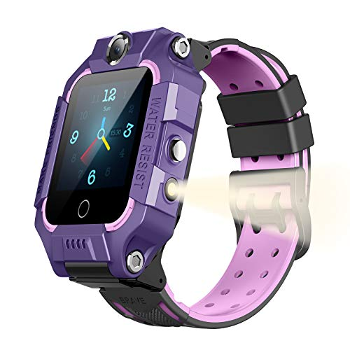 PUBU 4G Smart Watch Phone for Girls and Boys Age 4-16 (4 Colors), Make Call Without Cellphone, Smart Watch for Kids
