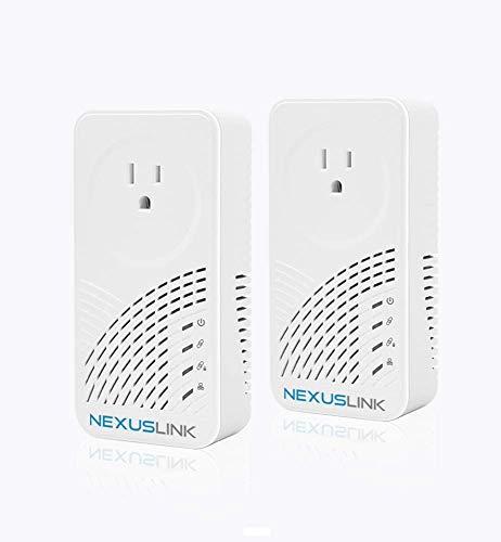 Nexuslink Wave 2 G.hn Powerline Adapter | Pass-Through Outlet | 2000Mbps I 2-Unit Kit I (GPL-2000PT-KIT)