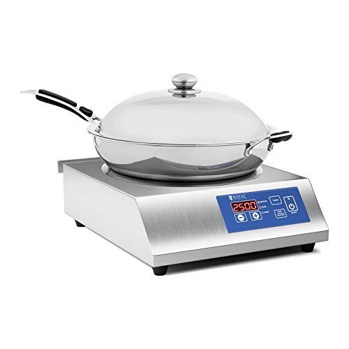 Royal Catering RCIK-3500CGW Inductie kookplaat met wok - 3500 Watt - 36 cm