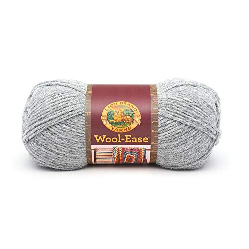 Lion Brand Yarn Lion Brand Wool-Ease Yarn (151) Grey Heather 4 Ply Wool Yarn