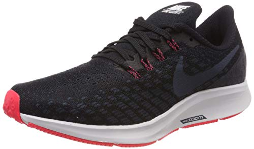 Nike Men's Air Zoom Pegasus 35 Running Shoes, Black (Black/Armory Navy/Platinum Tint 017), 6 UK