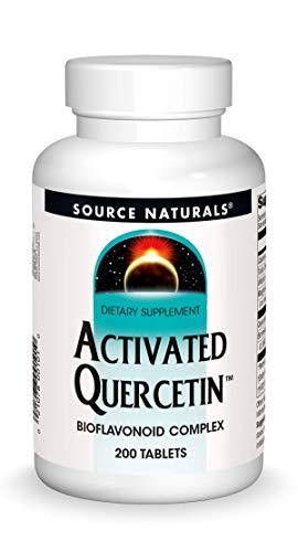 Source Naturals Activated Quercetin - Plant-Derived Bioflavonoid Complex - Seasonal & Immune Defense - 200 Tablets Vegetarian Friendly