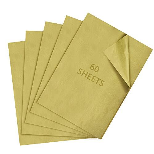 Belle Vous Papel de Regalo Navidad (60 Hojas) 65 x 50 cm Papel de Seda Dorado Metálico Navideño para Envolver Regalos - Papel para Regalos, Bolsa de Regalos Manualidades de Niños