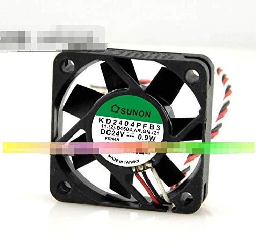 CYRMZAY Compatible para SUNON KD2404PFB3 24V 0.9W 4CM 4010 3-Cable Alarm Signal Ventilador