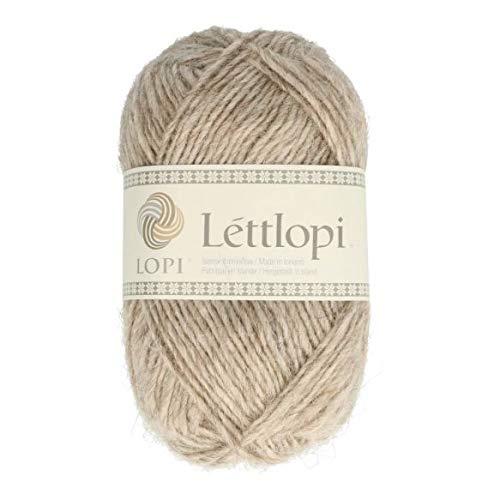 theofeel Lettlopi Wolle 0086 beige, Islandwolle zum Stricken von Islandpullovern, Norwegermuster