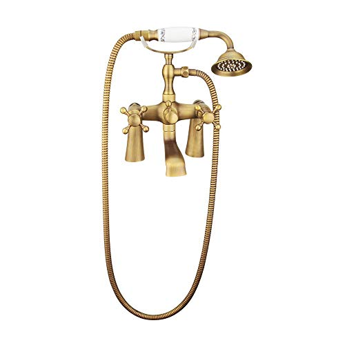 Man-hj Handheld Ducha termostática de Pared con Temperatura de Agua Ajustable, 8' para el baño (Bath & Shower Faucet Type : In-Wall B+amp; S Faucets)